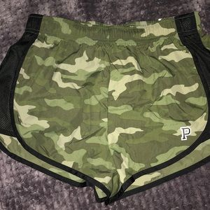 Vs pink camp print sport shorts size small